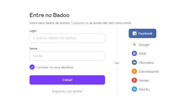 login Badoo