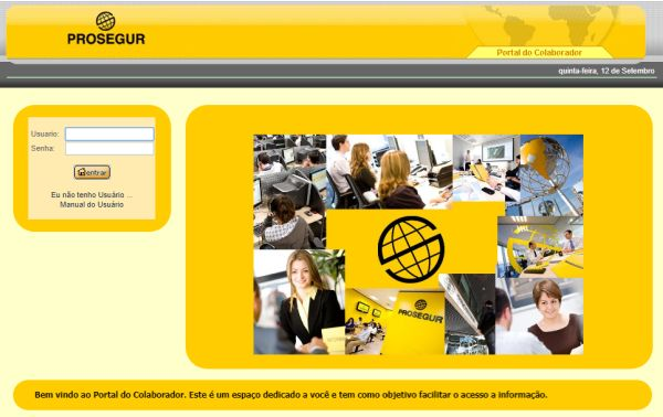 login portal do colaborador