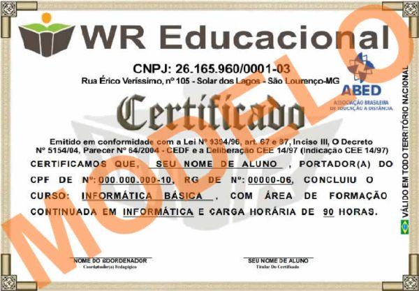 WR Educacional – Cursos Rápidos com Certificado