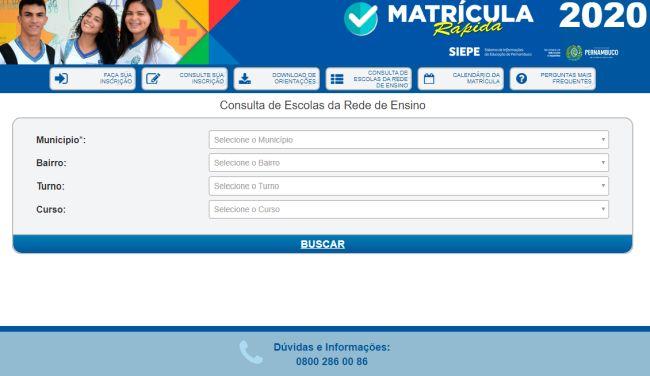 escolas gratuitas Pernambuco